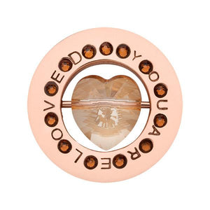 You Are Loved Rose Gold Plate 23mm Coin