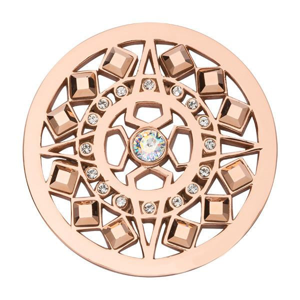 Shooting Star Rose Gold Plated 33mm Coin