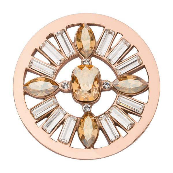 Nikki Lissoni - Retro Chic Rose Gold Plate 33mm Coin