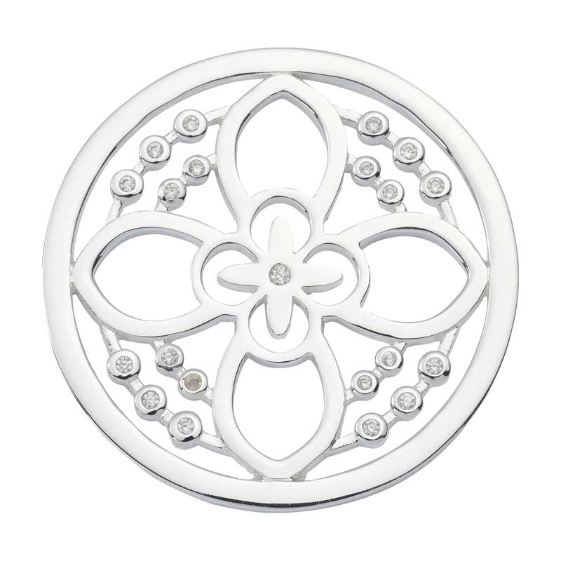 Nikki Lissoni - Day Flower Silv Plt 33mm Coin