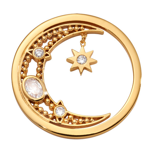 Moon Goddess Gold Plated 33mm Coin