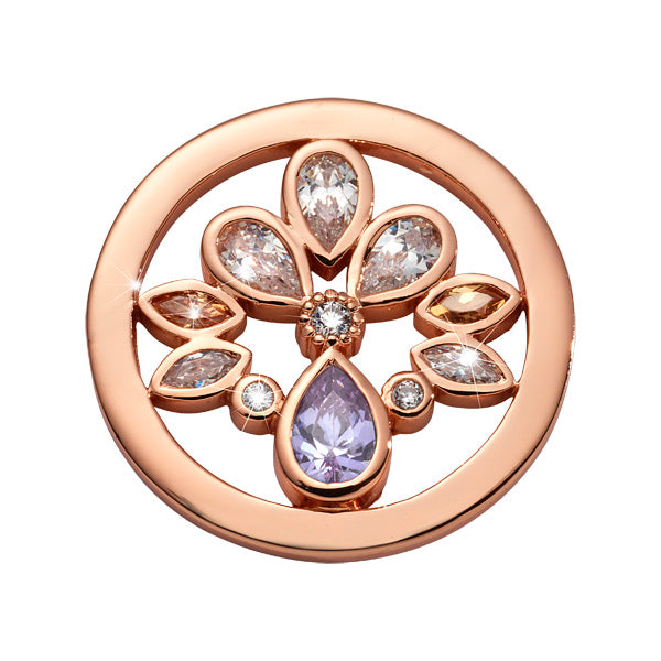 Orchid In Bloom Rosé Gold Plated 23mm Coin