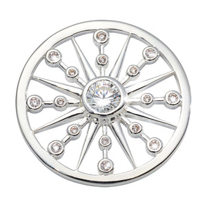 Nikki Lissoni - Bursting Star Silver Plated 33mm Coin