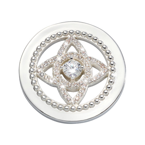 Eastern Lace Silver Plated 23mm Coin