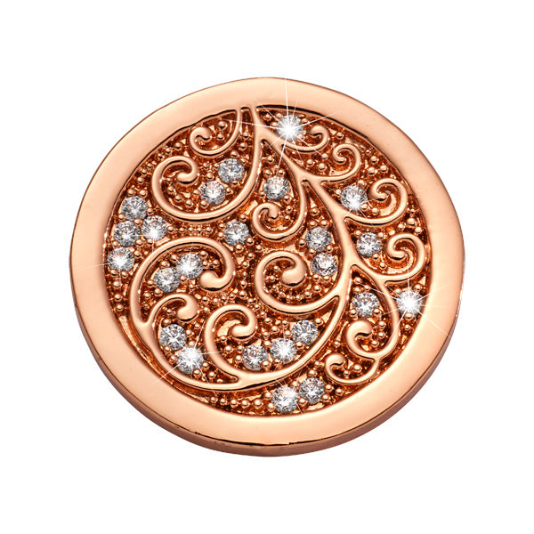 Nikki Lissoni - Flawless Rosé Gold Plated 23mm Coin