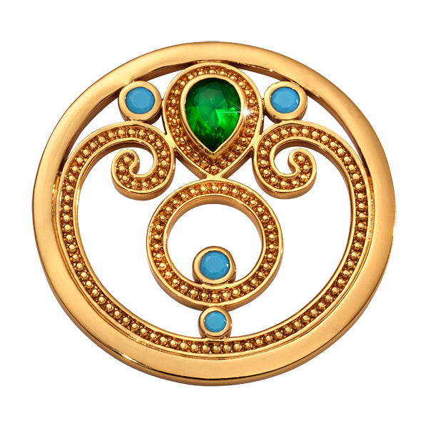 Nikki Lissoni - Emerald Dream Gold Plated 33mm Coin