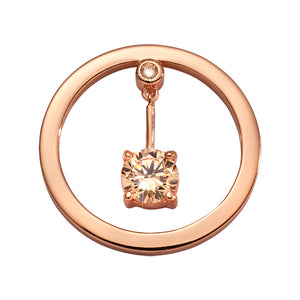 Nikki Lissoni - Peace Of Heart Rosé Gold Plated 23mm Coin