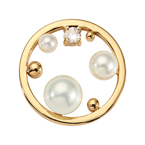 Nikki Lissoni Dots and Pearls Gold Plated 23mm Coin