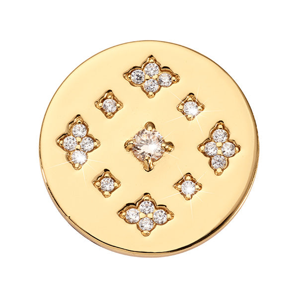 Nikki Lissoni Parisian Sparkle Gold Plated 23mm Coin