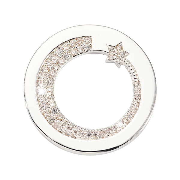 Nikki Lissoni Falling Star Silver Plated 23mm Coin