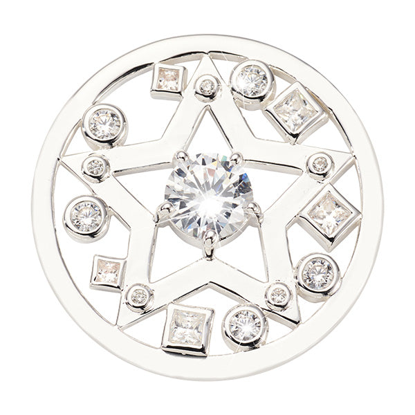 Nikki Lissoni Charming Star Silver Plated 33mm Coin