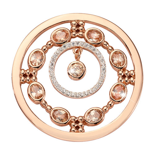 Nikki Lissoni Natural Flair Rose Gold Plated 33mm Coin