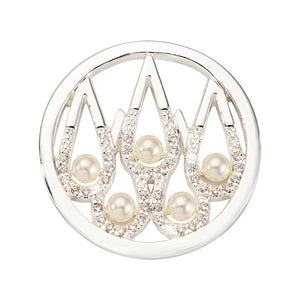 Nikki Lissoni Pearl Drops Silver Plated 23mm Coin