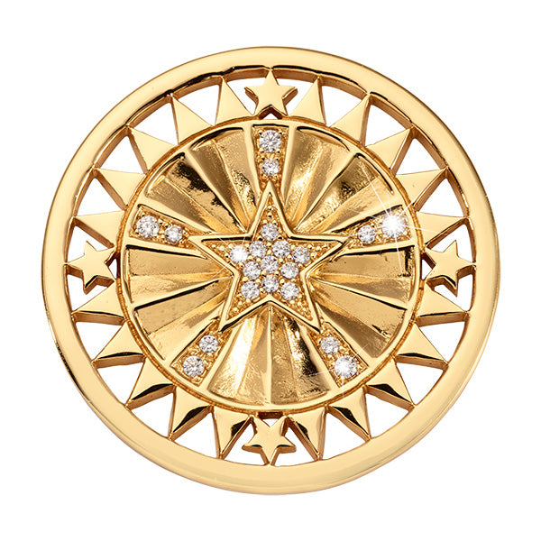 Wanderlust Star Gold Plated 33mm Coin