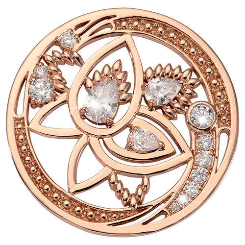 Nikki Lissoni Beauty Of Nature Rose Gold Plated 43mm Coin