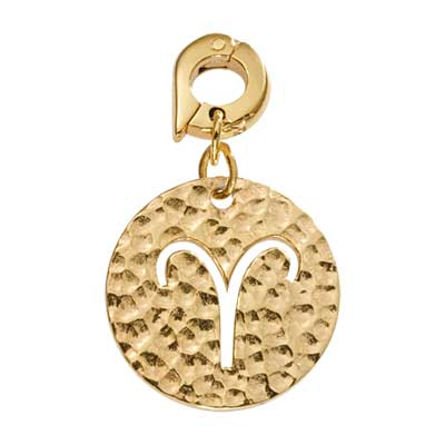Aries Gold Plated 20mm Charm
