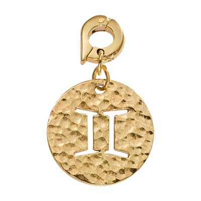 Gemini Gold Plate 20mm Charm