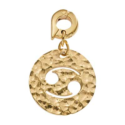 Cancer Gold Plate 20mm Charm
