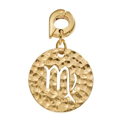 Nikki Lissoni Virgo Gold Plated 20mm Charm