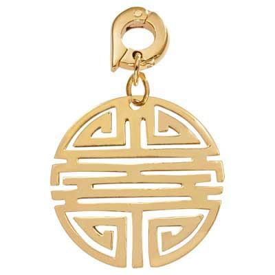 Longevity Gold Plated 25mm Charm