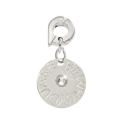 Be Who You Are Silver Plate 15mm Charm