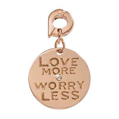 Love More Worry Less Rose 20mm Charm