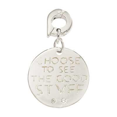 See The Good Stuff Silver Plate 20mm Charm