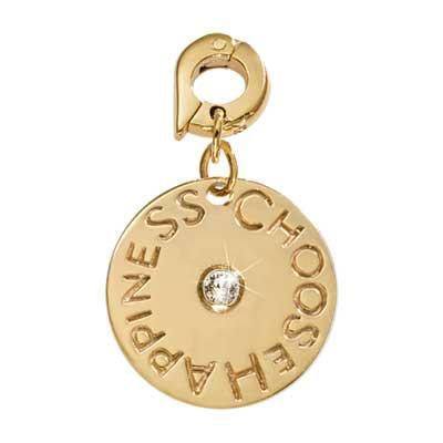 Choose Happiness Gold Plated 20mm Charm