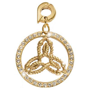 Nikki Lissoni Inner Strength Gold Plated 25mm Charm