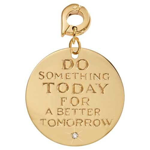 A Better Tomorrow Gold Plate 25mm Charm