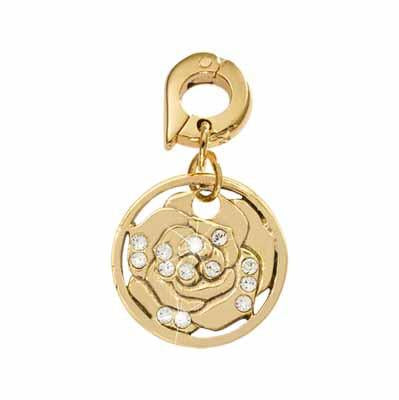 Sparkling Hortensia Gold Plated 15mm Charm