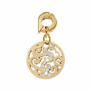 Baroque Gold Plate 15mm Charm