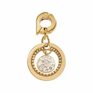 Vintage Dangle Gold Plate 15mm Charm