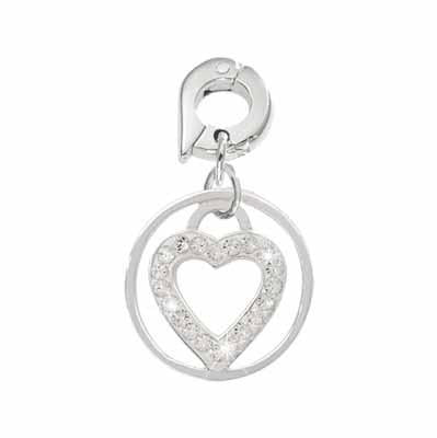 Love Keeper Silver Plated 15mm Charm