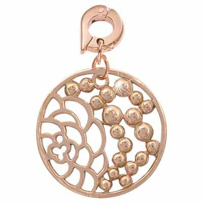China Garden Rose Gold Plate 25mm Charm