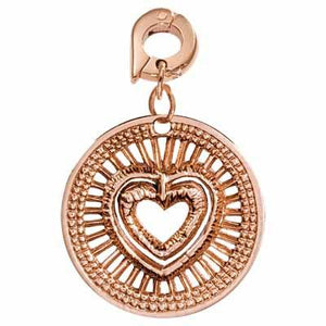 Protect You Rose Gold Plate 25mm Charm