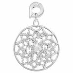 Lucky Daisy Silver Plated 25mm Charm