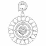 Inner Power Silver Plated 25mm Charm