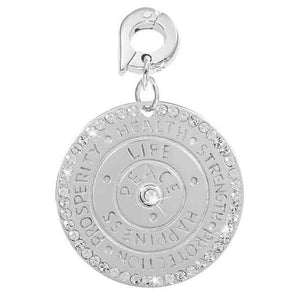 Wisdom Of Words Silver Plate 25mm Charm