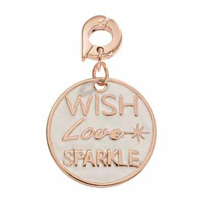 Wish Love Sparkle Rose 20mm Charm