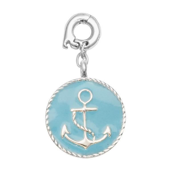 Something Blue Silver Plate 20mm Charm