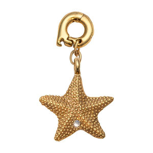 Starfish Gold Plate 20mm Charm