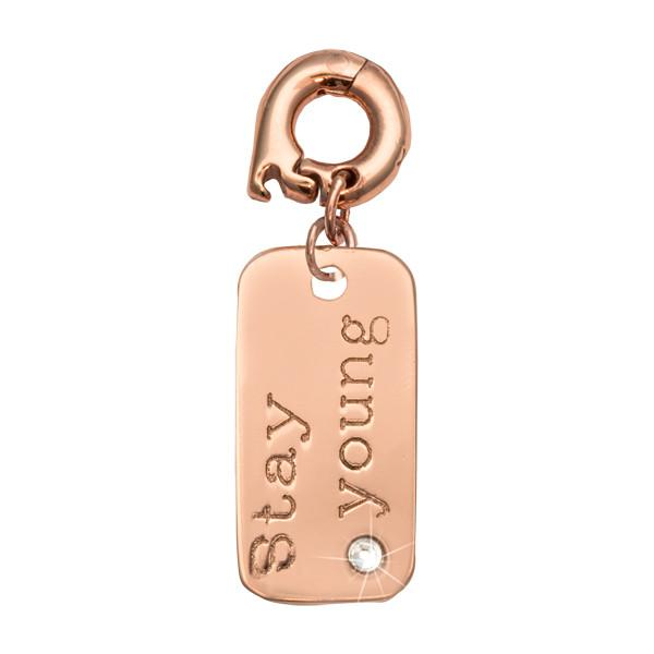 Stay Young Rose Gold Plate 20mm Charm