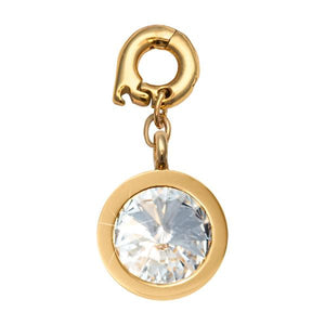 April Gold Plate 15mm Charm