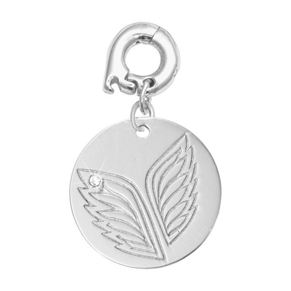 Caring Wings Silver Plated 20mm Charm