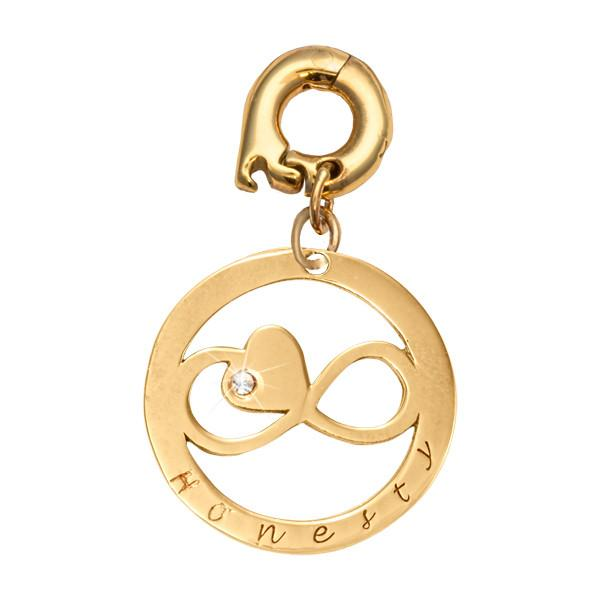 Honesty Gold Plate 20mm Charm