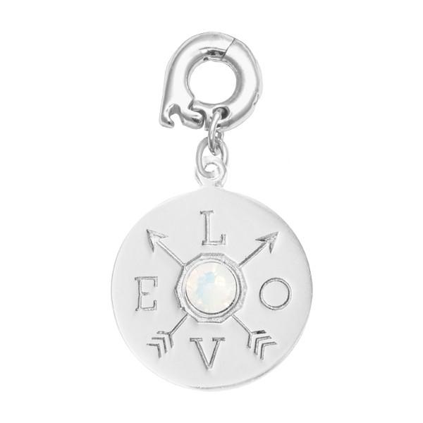 Show Me Love Silver Plate 20mm Charm