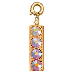 Colours Of My Day Gold Plate 30mm Charm