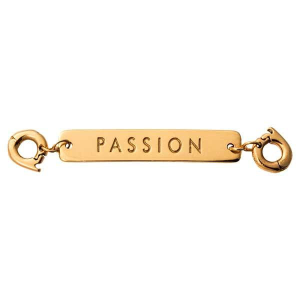 Passion Gold Plate Two Lock Tag