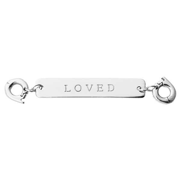 Loved Silver Plate Two Lock Tag